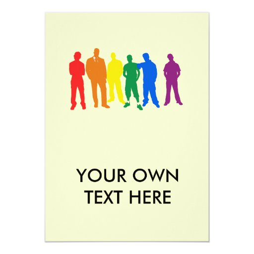 ORGULLO GAY (hombres) Invitación 12,7 X 17,8 Cm