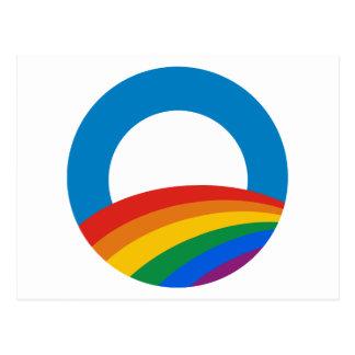 Orgullo gay Obama Tarjetas Postales