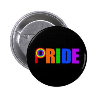 Orgullo gay pin redondo de 2 pulgadas