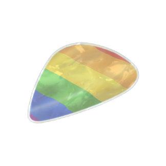 Orgullo gay púa de guitarra celuloide nacarado
