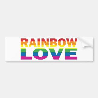 Orgullo gay RAINBOW-LOVE Pegatina Para Auto