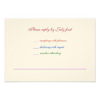 orgullo gay RSVP del arco iris LGBT del boda 3 5x5 Invitación Personalizada