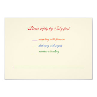orgullo gay RSVP del arco iris LGBT del boda 3.5x5 Invitación Personalizada