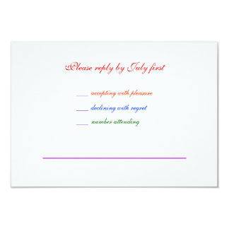 orgullo gay RSVP del arco iris LGBT del boda 3.5x5 Comunicado Personal