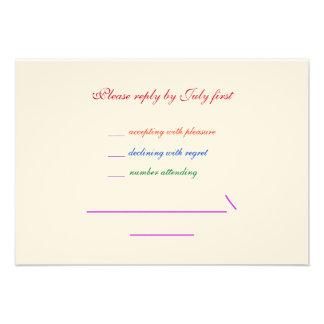 orgullo gay RSVP del arco iris LGBT del boda 3 5x5 Anuncio