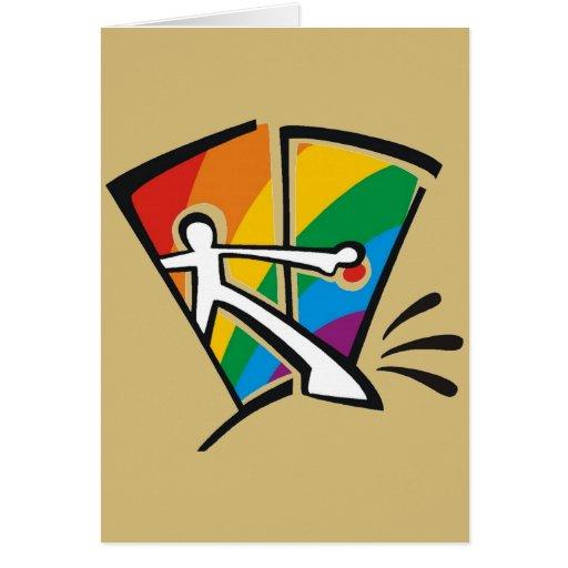Orgullo gay tarjeta