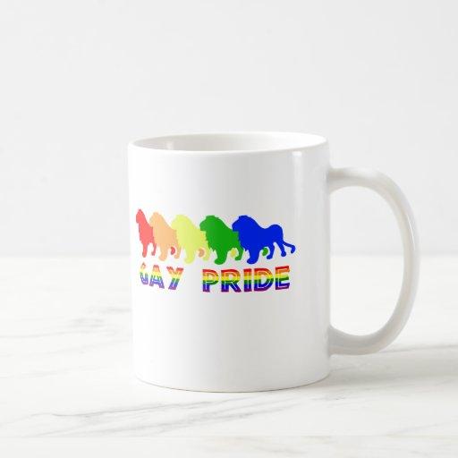 Orgullo gay tazas de café
