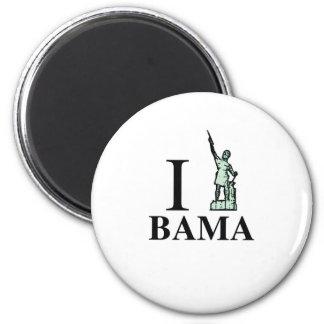 Orgullo hermoso de Products|Alabama Imán Redondo 5 Cm