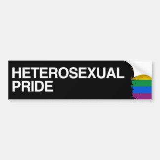ORGULLO HETEROSEXUAL - .PNG ETIQUETA DE PARACHOQUE