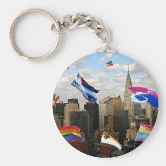 Orgullo II de Nueva York Llavero Redondo Tipo Pin