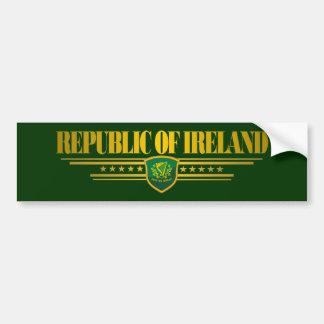 Orgullo irlandés pegatina de parachoque