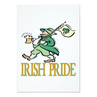 """Orgullo irlandés invitación 5"""" x 7"""""""