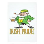 Orgullo irlandés invitación 12,7 x 17,8 cm