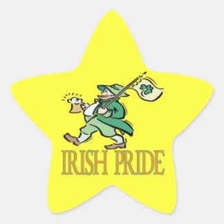 Orgullo irlandés pegatina forma de estrella