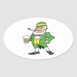 Orgullo irlandés colcomanias oval personalizadas