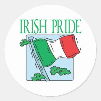 Orgullo irlandés pegatinas redondas