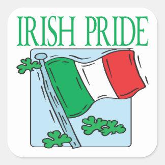 Orgullo irlandés calcomanías cuadradases