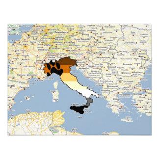 Orgullo Italia del oso Invitaciones Personalizada