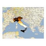 Orgullo Italia del oso Tarjeta Postal