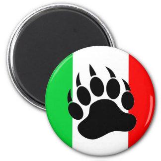 Orgullo italiano del oso imán redondo 5 cm