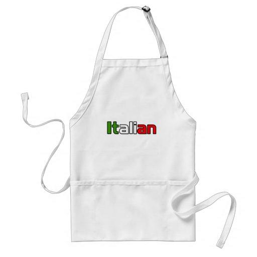 Orgullo italiano delantales