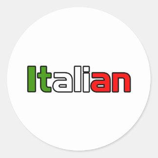 Orgullo italiano pegatina redonda