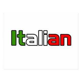 Orgullo italiano tarjeta postal