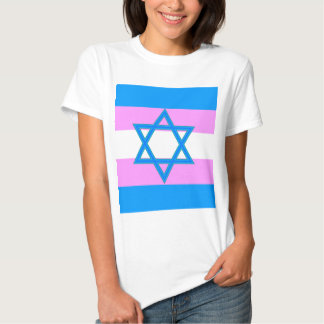 Orgullo judío del transexual playeras
