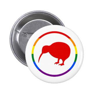 Orgullo-Kiwi y Nueva Zelanda de GLBTQ Pin Redondo De 2 Pulgadas