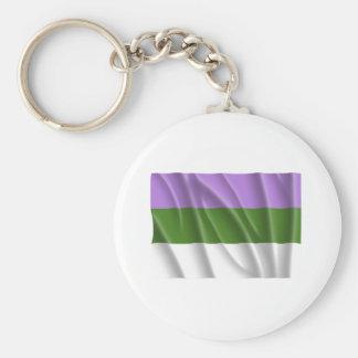 Orgullo la Florida del genderqueer que agita Llaveros