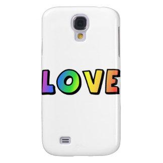 Orgullo lesbiano gay del arco iris del amor funda para galaxy s4