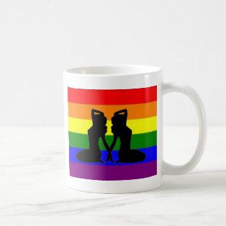 Orgullo lesbiano griego taza de café