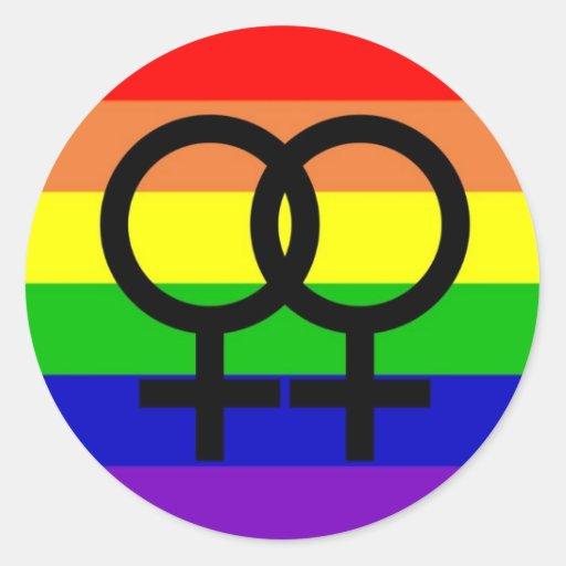 Orgullo lesbiano pegatinas