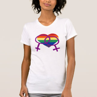 Orgullo lesbiano camiseta