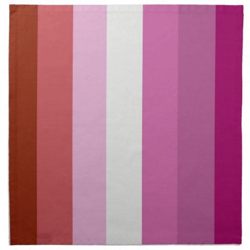 Orgullo lesbiano servilletas imprimidas