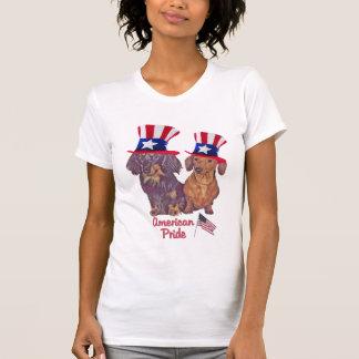 Orgullo liso y de pelo largo del americano del Dac Camiseta