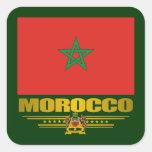 """""""Orgullo marroquí """" Calcomanías Cuadradas Personalizadas"""