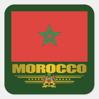 """Orgullo marroquí "" Pegatina Cuadrada"