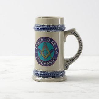 Orgullo masónico jarra de cerveza