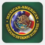 Orgullo mexicano-americano pegatina cuadrada