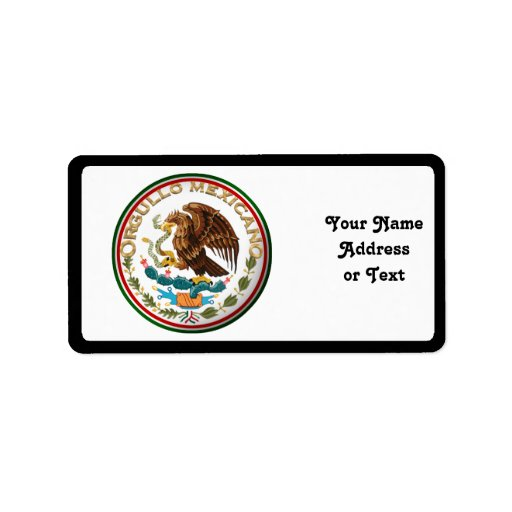 Orgullo Mexicano (Eagle de la bandera mexicana) Etiquetas De Dirección