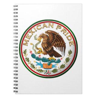 Orgullo mexicano (Eagle de la bandera mexicana) Libros De Apuntes Con Espiral
