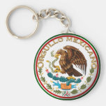 Orgullo Mexicano (Eagle de la bandera mexicana) Llavero Redondo Tipo Pin