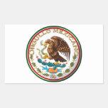 Orgullo Mexicano (Eagle de la bandera mexicana) Pegatina Rectangular