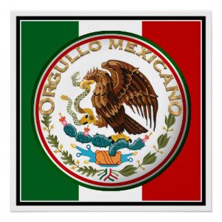 Orgullo Mexicano (Eagle de la bandera mexicana) Perfect Poster