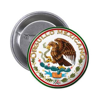 Orgullo Mexicano (Eagle de la bandera mexicana) Pin Redondo De 2 Pulgadas