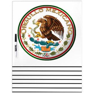 Orgullo Mexicano (Eagle de la bandera mexicana) Pizarra Blanca