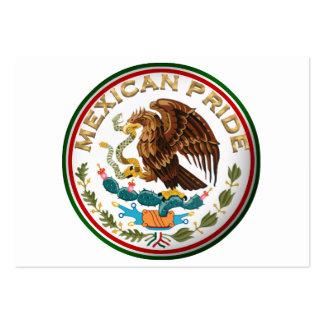 Orgullo mexicano (Eagle de la bandera mexicana) Tarjetas De Visita Grandes