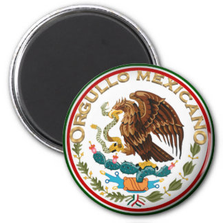 Orgullo Mexicano (Eagle from Mexican Flag) 2 Inch Round Magnet