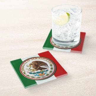 Orgullo Mexicano (Eagle from Mexican Flag) Glass Coaster